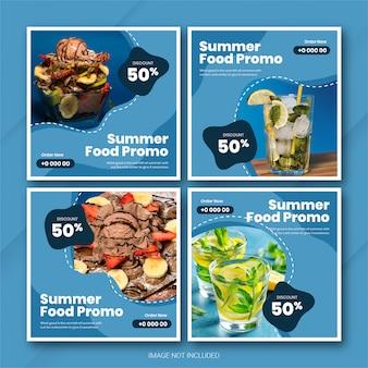 Plantilla de horario de verano del paquete de publicaciones de instagram