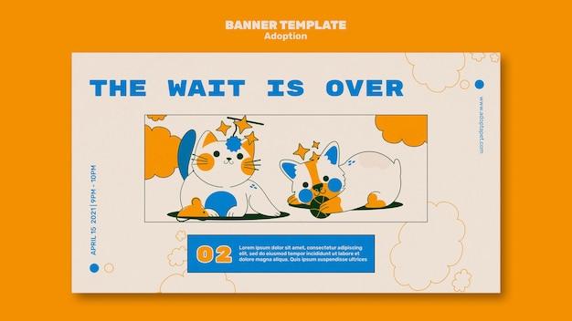 Plantilla ilustrada de banner de mascotas