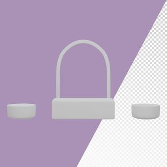 Plantilla de imagen de fondo de podio redondeado de diferentes formas 3d