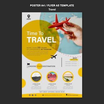 Plantilla de impresión de agencia de viajes