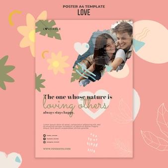 Plantilla de impresión de amor con foto