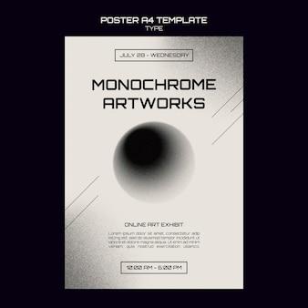 Plantilla de impresión de arte monocromo