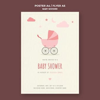 Plantilla de impresión de baby shower