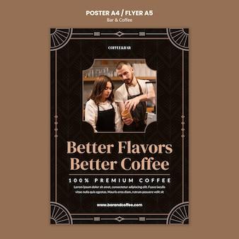 Plantilla de impresión de bar y café