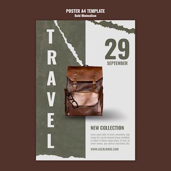 Plantilla de impresión de bolsa de viaje