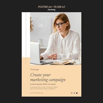 Plantilla de impresión de campaña de marketing