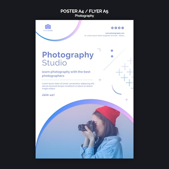 Plantilla de impresión de cartel de estudio de fotografía