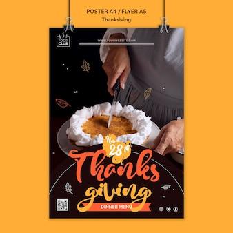 Plantilla de impresión de celebración de acción de gracias
