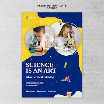 Plantilla de impresión de clase de ciencias