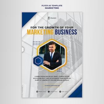 Plantilla de impresión comercial de marketing