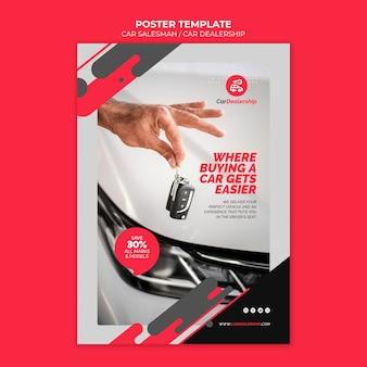 Plantilla de impresión de concesionario de coches con foto