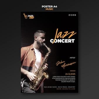 Plantilla de impresión de concierto de jazz