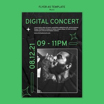 Plantilla de impresión de concierto virtual