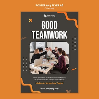 Plantilla de impresión creativa de coworking
