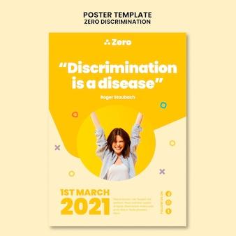 Plantilla de impresión día cero discriminación