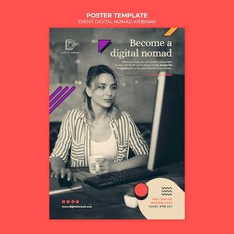 Plantilla de impresión digital nómada