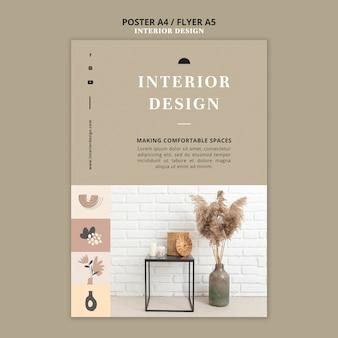 Plantilla de impresión de diseño de interiores