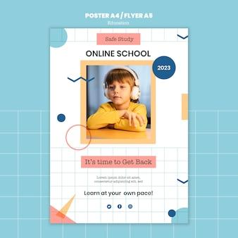 Plantilla de impresión de escuela en línea