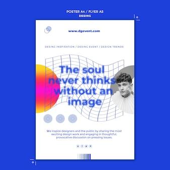 Plantilla de impresión de evento de diseño