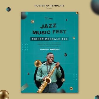 Plantilla de impresión de festival de música de jazz