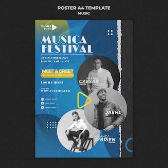 Plantilla de impresión de festival de música