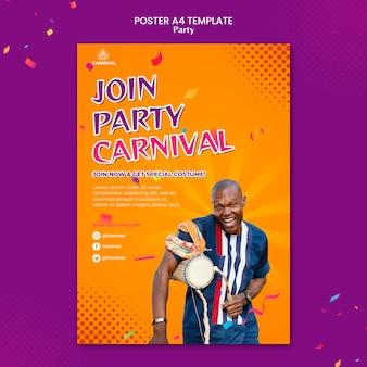 Plantilla de impresión de fiesta de carnaval