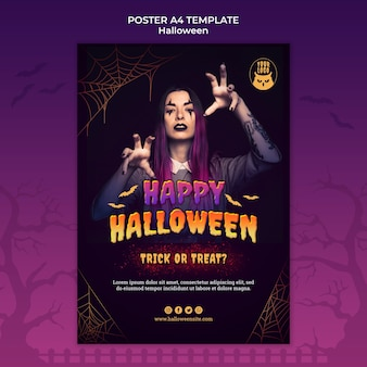 Plantilla de impresión de fiesta de halloween oscura