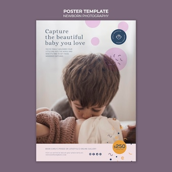 Plantilla de impresión de fotografía de recién nacido