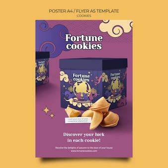 Plantilla de impresión de galletas de la fortuna