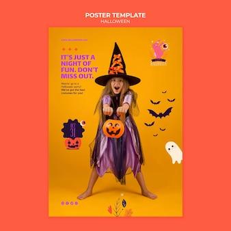 Plantilla de impresión de halloween con foto