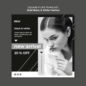 Plantilla de impresión de moda en blanco y negro