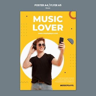 Plantilla de impresión de música para todos