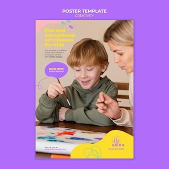 Plantilla de impresión de niños creativos