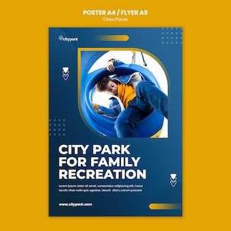 Plantilla de impresión de parque de la ciudad