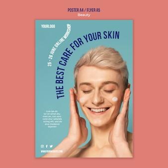 Plantilla de impresión de productos de belleza y cuidado de la piel