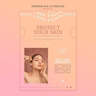 Plantilla de impresión de productos para el cuidado de la piel