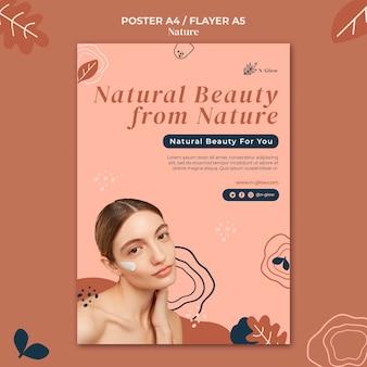 Plantilla de impresión de productos naturales para el cuidado de la piel