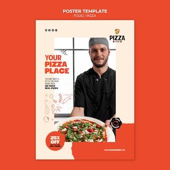 Plantilla de impresión de restaurante de pizza