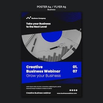 Plantilla de impresión de seminario web empresarial