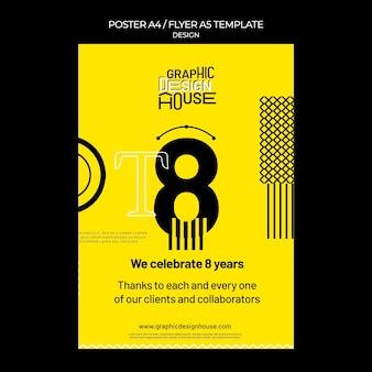 Plantilla de impresión de servicios de diseño gráfico