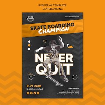 Plantilla de impresión de skate con foto