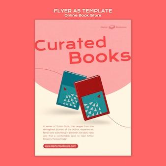 Plantilla de impresión de tienda de libros online