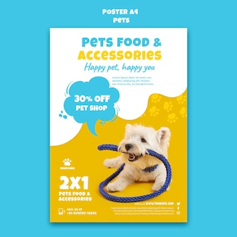 Plantilla de impresión de tienda de mascotas