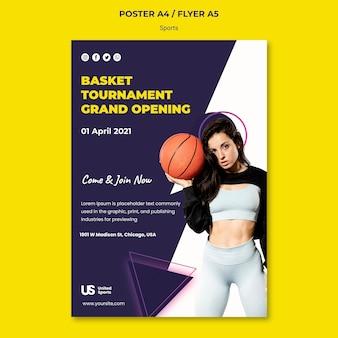 Plantilla de impresión de torneo de baloncesto