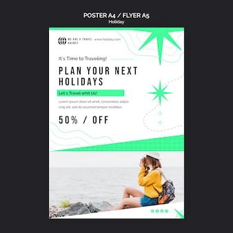 Plantilla de impresión de vacaciones con foto