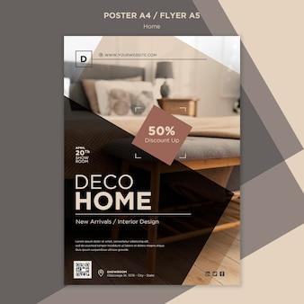 Plantilla de impresión de ventas de decoración del hogar