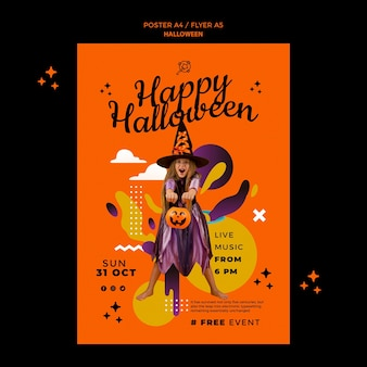 Plantilla de impresión vertical de halloween