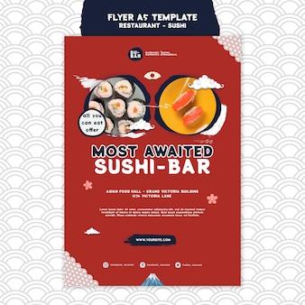 Plantilla de impresión vertical de sushi