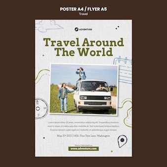 Plantilla de impresión de viaje con foto