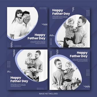 Plantilla de instagram post bundle para el día del padre